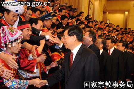 中国 宗教/党和国家领导人***、吴邦国、温家宝、贾庆林、李长春、习近...