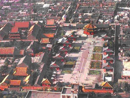 沈阳故宫是除北京紫禁城之外,中国现存最大的宫殿建筑群.高清图片