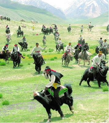 塔吉克族主要分布在新疆维吾尔自治区西南部的塔