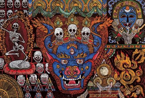 """中国/""""祥巴"""",藏语音译,意为木刻版画。"""