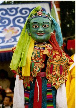 藏戏面具的色彩与性格
