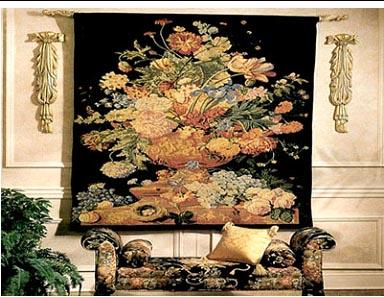 装饰在墙壁上的艺术挂毯