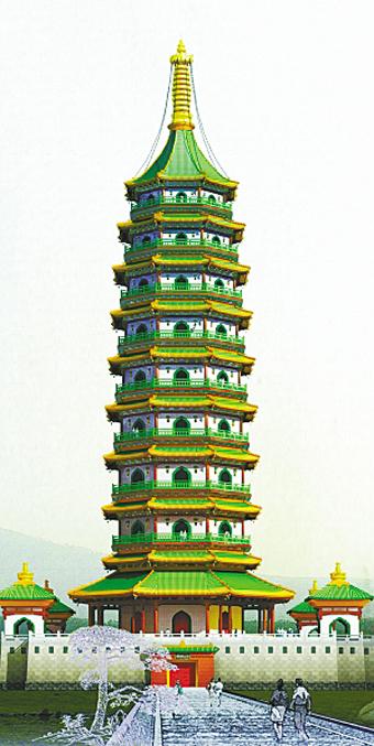 大报恩寺琉璃塔作为南京最具