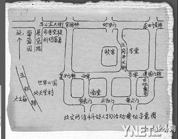 手绘北京故宫简图