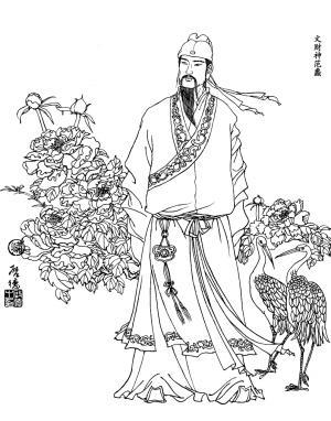 文财神范蠡(左)和武财神赵公明(右)