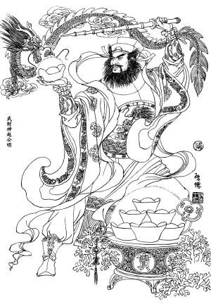文财神范蠡(左)和武财神赵公明(右). 资料图片
