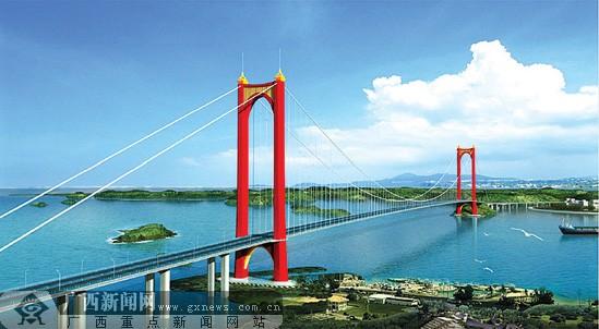 西第一跨海大桥设计蓝图面世 跨越茅尾海不挡潮
