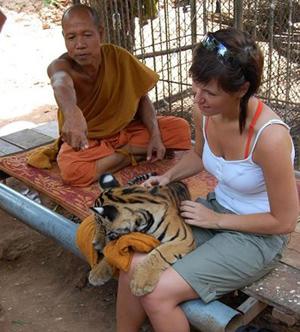 杀老虎的照片