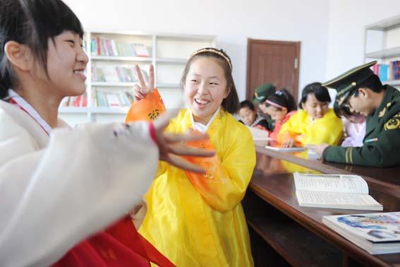 朝鲜族留守儿童的小书屋 中国民族宗教网 mzb