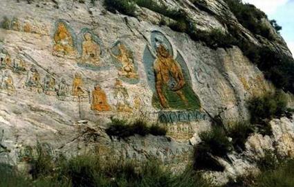 白居塔/众神图(白居塔壁画) 图片来自百度