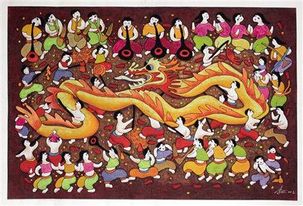 """近日,一组以綦江农民版画为内容的""""讲文明树新风公益广告""""在各大图片"""