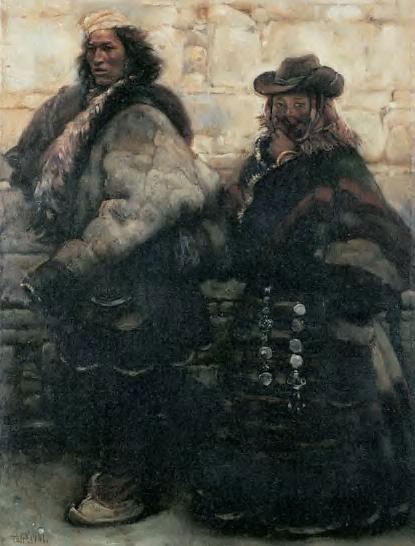 陈丹青1968年开始学油画———白天画毛主席像
