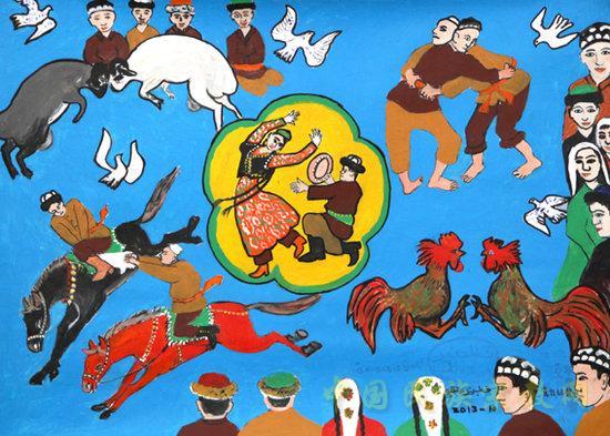 第三届全国少数民族美展 农民画等民族民间美术登上大雅之堂