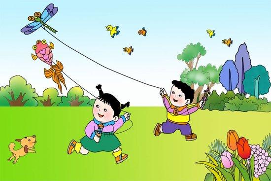 秋分期间还是孩子们放风筝的好时候图片