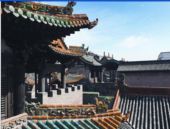 """山西的琉璃烧制技艺始于魏晋南北朝,早在盛唐年间,就有""""碧瓦朱甍图片"""