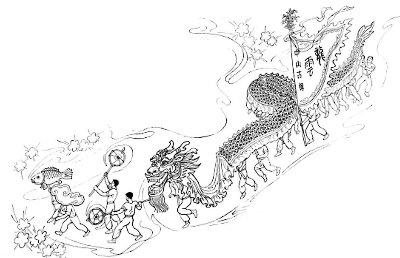 六坊云龙舞 在新春的寒夜里跳跃翻飞