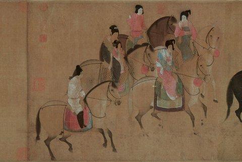 唐风服装系列图手绘图