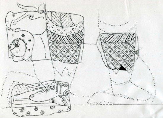 鹿身人头手绘图片