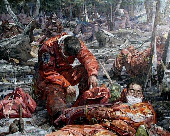 中国梦 强军梦 我的梦——罗田喜油画作品展览