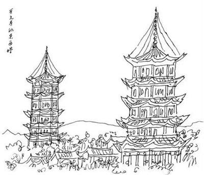 台湾旅游手绘画