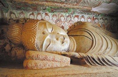 莫高窟最具代表性的彩塑涅槃像