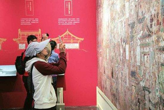 山西高平开化寺壁画在北大巡展