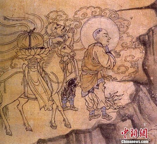 敦煌壁画现中国最早玄奘取经图
