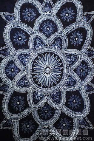 白族服饰花纹扎染矢量图片五朵金花