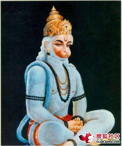 此画为印度猴哈努曼